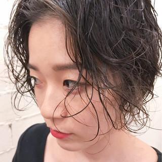 ゆるふわ 黒髪 フェミニン 女子力 ヘアスタイルや髪型の写真・画像