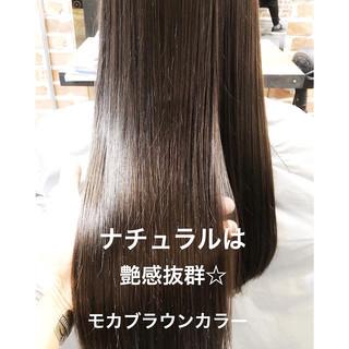 オフィス ナチュラル スポーツ ショコラブラウン ヘアスタイルや髪型の写真・画像