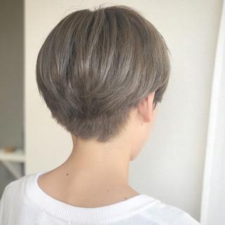 ショート 透明感 ハイライト マッシュ ヘアスタイルや髪型の写真・画像