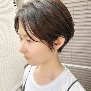 ナチュラル ショートヘア デート ショート ヘアスタイルや髪型の写真・画像