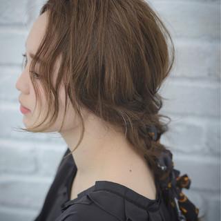 ショート ハーフアップ 夏 大人かわいい ヘアスタイルや髪型の写真・画像