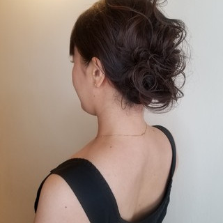 デート エレガント ヘアアレンジ 結婚式ヘアアレンジ ヘアスタイルや髪型の写真・画像
