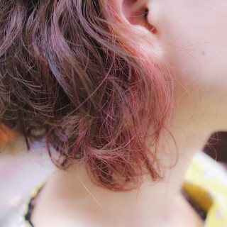 ボブ 色気 ハイライト 大人女子 ヘアスタイルや髪型の写真・画像