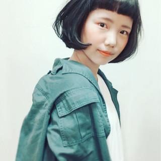 黒髪 ストリート ピュア ショート ヘアスタイルや髪型の写真・画像