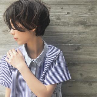 大人女子 外国人風 ショート 似合わせ ヘアスタイルや髪型の写真・画像
