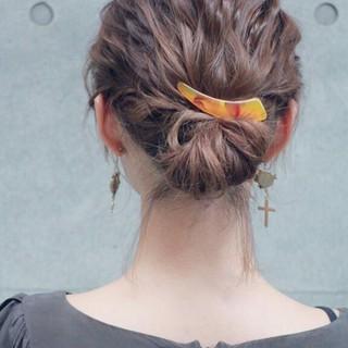 波ウェーブ ゆるふわ 簡単ヘアアレンジ ショート ヘアスタイルや髪型の写真・画像