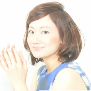 セミロング ゆるふわ ヘアアレンジ モテ髪 ヘアスタイルや髪型の写真・画像