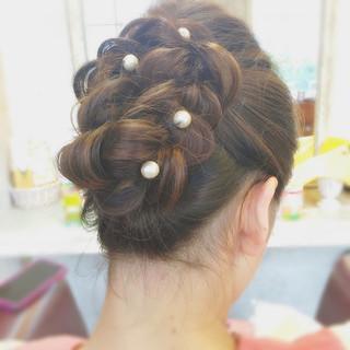 外国人風 ヘアアレンジ パーティ 結婚式 ヘアスタイルや髪型の写真・画像