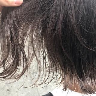 ボブ ミルクティーベージュ ナチュラル グレージュ ヘアスタイルや髪型の写真・画像
