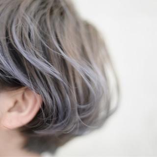 グラデーションカラー 外国人風 インナーカラー ストリート ヘアスタイルや髪型の写真・画像