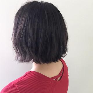 ボブ ナチュラル 簡単ヘアアレンジ アンニュイほつれヘア ヘアスタイルや髪型の写真・画像