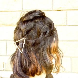 波ウェーブ ガーリー ボブ ヘアアレンジ ヘアスタイルや髪型の写真・画像
