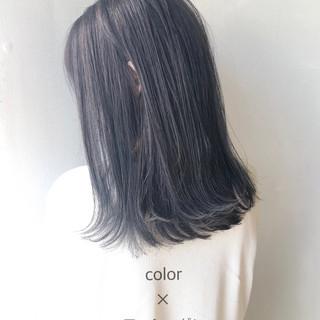 ナチュラル ツヤ髪 黒髪 セミロング ヘアスタイルや髪型の写真・画像