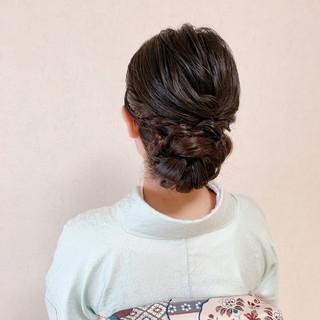 訪問着 着物 和装ヘア エレガント ヘアスタイルや髪型の写真・画像