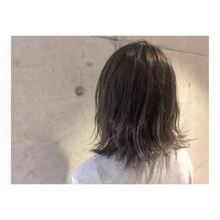 ボブ アッシュ グラデーションカラー 外国人風 ヘアスタイルや髪型の写真・画像