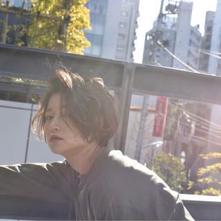 外国人風 ゆるふわ 大人かわいい ショート ヘアスタイルや髪型の写真・画像