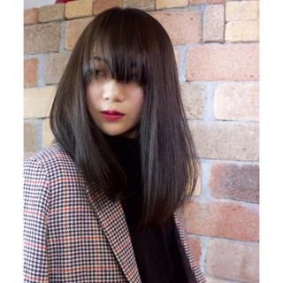 黒髪 オフィス デート セミロング ヘアスタイルや髪型の写真・画像