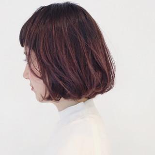 ストリート 外国人風 ボブ レッド ヘアスタイルや髪型の写真・画像
