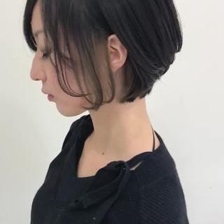 インナーカラー ミニボブ ショートボブ ショートヘア ヘアスタイルや髪型の写真・画像