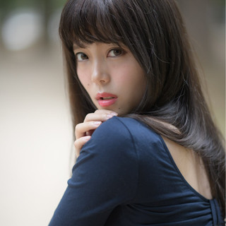 ロング 暗髪 秋 透明感 ヘアスタイルや髪型の写真・画像