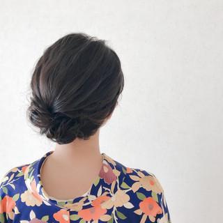 結婚式ヘアアレンジ 訪問着 和装ヘア 着物 ヘアスタイルや髪型の写真・画像