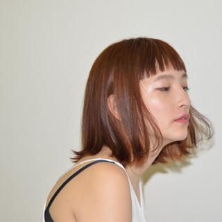 ボブ 外国人風 ハイライト ナチュラル ヘアスタイルや髪型の写真・画像