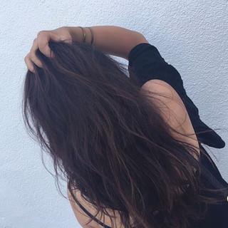 アンニュイ パーマ ハイライト 外国人風 ヘアスタイルや髪型の写真・画像