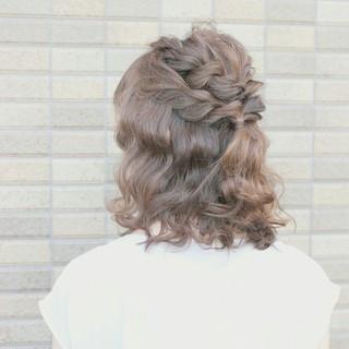 ショート ヘアアレンジ ミディアム 大人かわいい ヘアスタイルや髪型の写真・画像