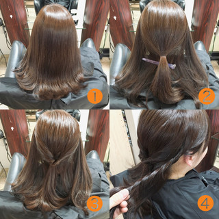 ゆるふわ ヘアアレンジ 外国人風 ミディアム ヘアスタイルや髪型の写真・画像