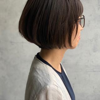 ミニボブ ナチュラル ボブ 内巻き ヘアスタイルや髪型の写真・画像