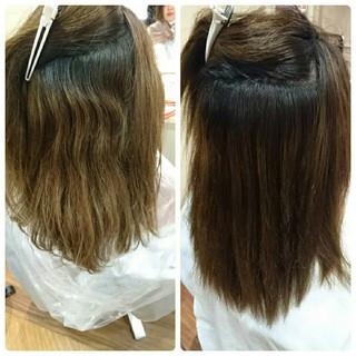 パーマ 縮毛矯正 ストレート 大人かわいい ヘアスタイルや髪型の写真・画像