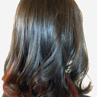 モード デート セミロング 冬 ヘアスタイルや髪型の写真・画像