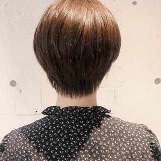 ストレート ショートボブ ショートヘア ショート ヘアスタイルや髪型の写真・画像