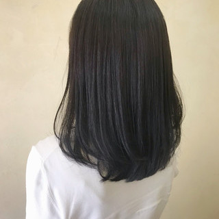 ミディアム エレガント 暗髪 マット ヘアスタイルや髪型の写真・画像