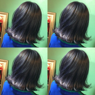 ボブ アッシュ 暗髪 モード ヘアスタイルや髪型の写真・画像