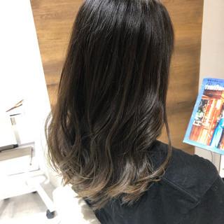 外国人風 外国人風カラー セミロング グラデーションカラー ヘアスタイルや髪型の写真・画像