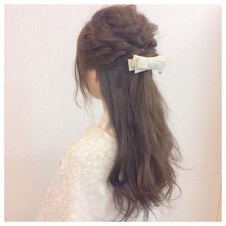 簡単ヘアアレンジ 大人かわいい 大人女子 ロング ヘアスタイルや髪型の写真・画像