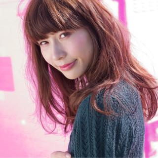 女子力 ピンク ストリート ヘアアレンジ ヘアスタイルや髪型の写真・画像