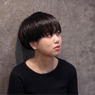 黒髪 ショート 暗髪 ハイライト ヘアスタイルや髪型の写真・画像