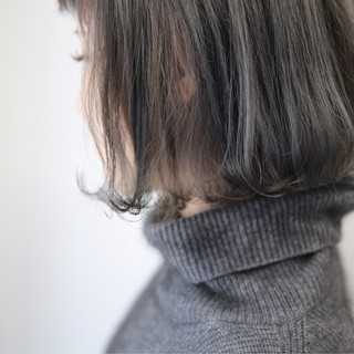 グレージュ アッシュ 外国人風カラー モード ヘアスタイルや髪型の写真・画像