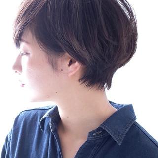 ショートボブ マッシュ ナチュラル 大人女子 ヘアスタイルや髪型の写真・画像