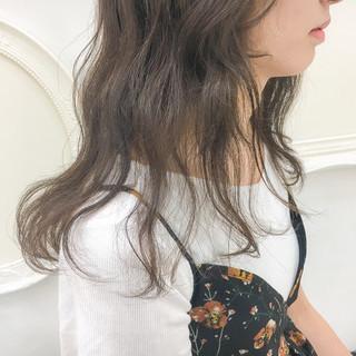 外国人風カラー 大人かわいい 透明感 アッシュ ヘアスタイルや髪型の写真・画像