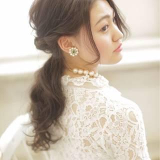 黒髪 コンサバ ヘアアレンジ ロング ヘアスタイルや髪型の写真・画像