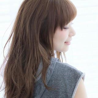 ふわふわ ロング 前髪あり 大人かわいい ヘアスタイルや髪型の写真・画像