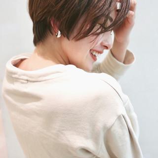 ショートボブ ベリーショート ショートヘア ナチュラル ヘアスタイルや髪型の写真・画像