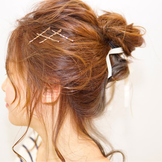 ショート ヘアアクセ ヘアアレンジ ヘアピン ヘアスタイルや髪型の写真・画像