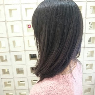 ストリート セミロング ブルージュ ヘアスタイルや髪型の写真・画像