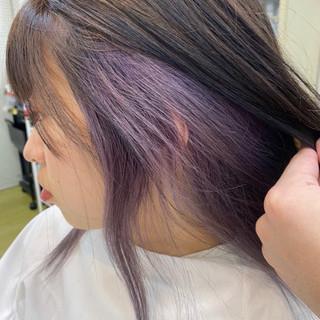 ミニボブ ボブ インナーカラー ショートボブ ヘアスタイルや髪型の写真・画像