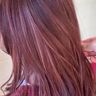 レッド 外国人風フェミニン 大人ヘアスタイル フェミニン ヘアスタイルや髪型の写真・画像