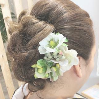 和装髪型 エレガント 和装ヘア ロング ヘアスタイルや髪型の写真・画像